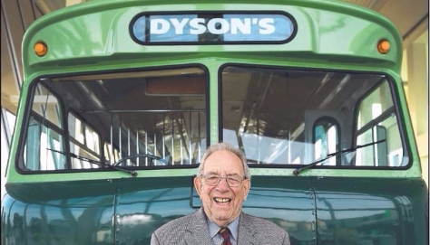 Collins Dyson has received a Medal of the Order of Australia for services to Bundoora and the transport industry. Picture: DAVID SMITH