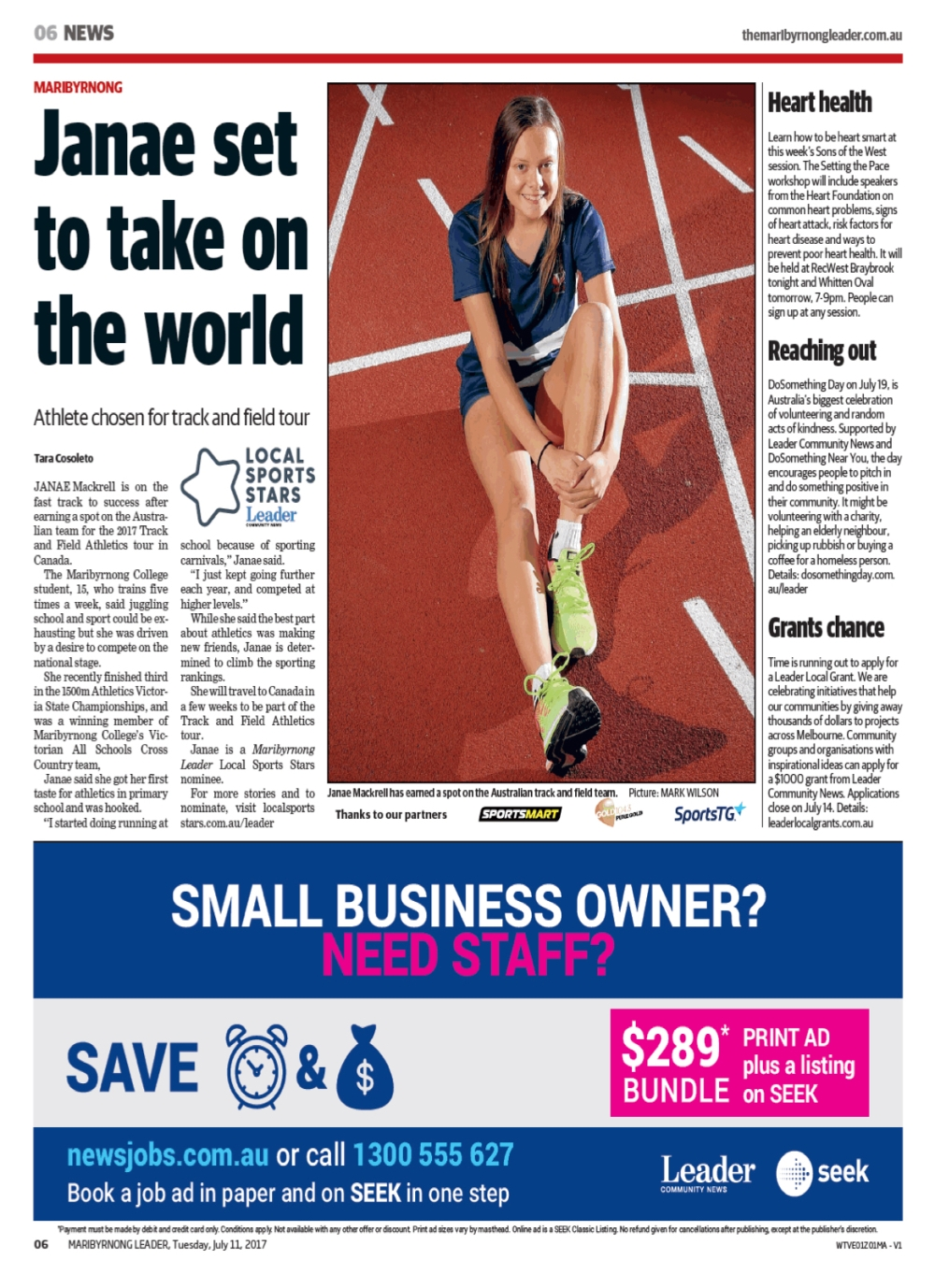 Athletic star (Maribyrnong Leader, July 11 2017).jpg